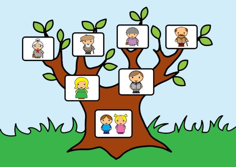 afbeelding stamboom met familie gratis afbeeldingen om te