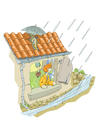 Afbeelding storm en regen