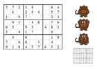 Afbeelding sudoku - aapjes
