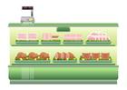 Afbeelding supermarkt - vleesafdeling