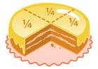 Afbeelding taart - een vierde stuk