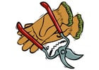 Afbeelding tang en handschoenen