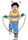 Afbeelding touwtjespringen