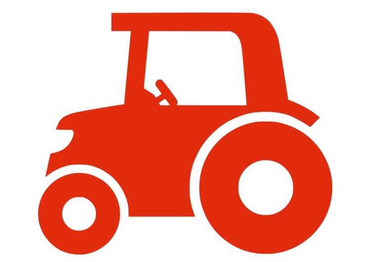 afbeelding  prent tractor  afb 28686