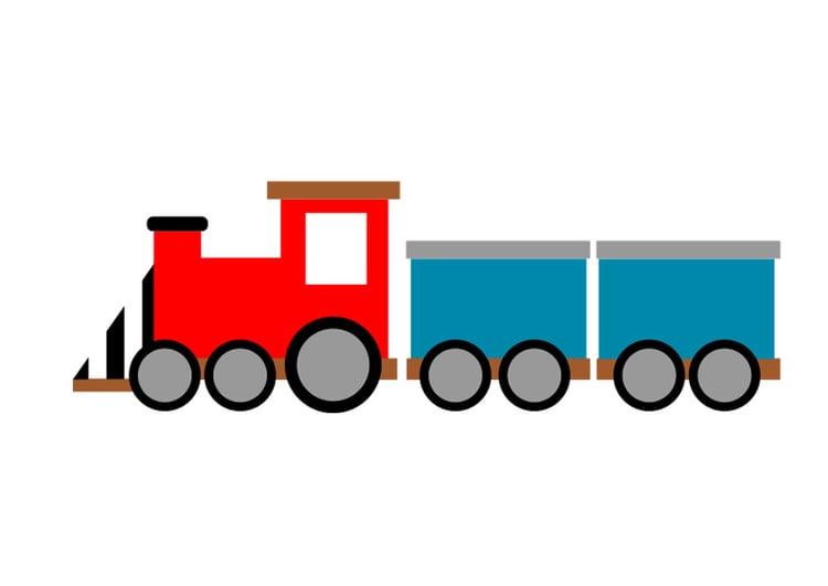 Afbeelding prent trein afb 29562 - Afbeelding in ...