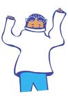 Afbeelding trui aantrekken