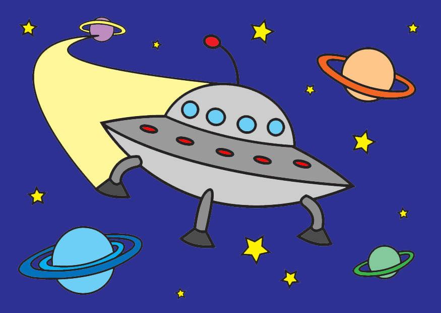 Afbeelding prent ufo afb 26796 - Afbeelding in ...