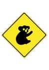 Afbeelding verkeersbord - Koala