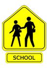 Afbeelding verkeersbord - school