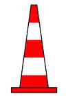 Afbeelding verkeerskegel