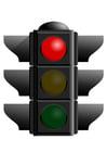 Afbeelding verkeerslicht rood