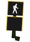 Afbeelding verkeerslicht voetgangers - doorgaan