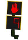 Afbeelding verkeerslicht voetgangers - stoppen