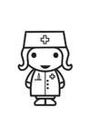 Kleurplaat verpleegster