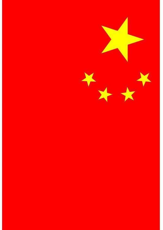 vlag china afbeelding