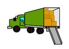 Afbeelding volle verhuiswagen