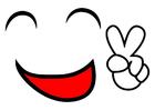 Afbeelding vredes glimlach
