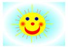 Afbeelding vrolijke zon