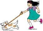 Afbeelding wandelen met hond