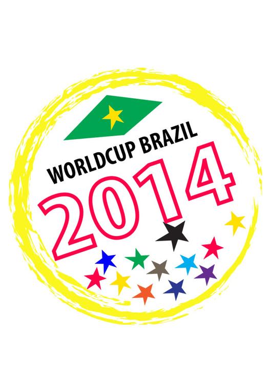 Kleurplaten Voetbal Brazilie.Afbeelding Prent Wereld Beker Brazilie Afb 28738