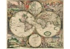 Afbeelding wereldkaart 1689