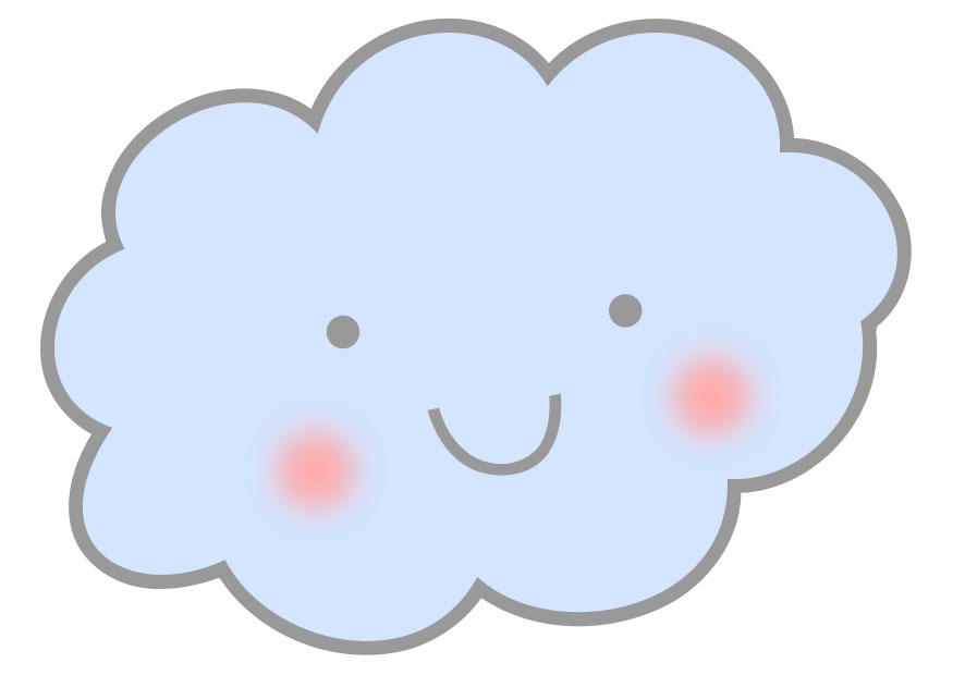 Afbeelding prent wolk afb 27573 - Nuages dessin ...