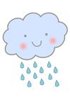 Afbeelding wolk met regen
