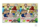 Afbeelding zoek de verschillen - taart bakken