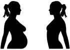 Kleurplaat zwangerschap