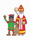 Afbeelding Zwarte Piet en Sinterklaas