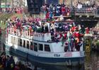 Foto aankomst boot van Sinterklaas en de Pieten