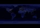 Foto aarde 's nachts - verstedelijkte gebieden