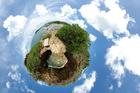Foto aarde - panorama-effect
