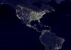 Foto aarde 's nachts - verstedelijkte gebieden  3