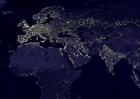 Foto aarde s nachts - verstedelijkte gebieden  4