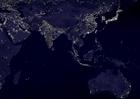 Foto aarde 's nachts - verstedelijkte gebieden  6