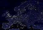 Foto aarde s nachts - verstedelijkte gebieden Europa
