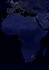 Foto aarde s nachts - verstedelijkte gebieden Afrika