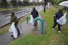 Foto afval opruimen