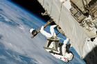 Foto astronaut in de ruimte