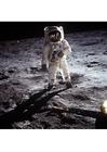 Foto astronaut op de maan