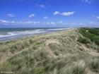 Foto duinen zee kust