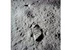 Foto eerste stappen op de maan