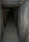 Foto gangenstelsel in een dugout - reconstructie