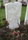 Foto Tyne Cot Cemetery - graf Joodse soldaat