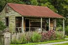 Foto hut voor slaven