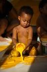 Foto kind met verf