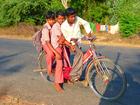 Foto kinderen op fiets