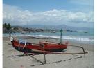 Foto klein vissersschip, Indonesie
