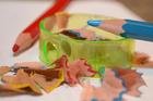 Foto kleurpoltloden en slijper